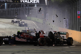 Jean-Eric Vergne Toro Rosso Michael Schumacher Mercedes 2012 Singapore GP
