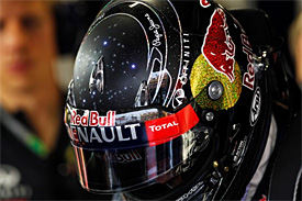 Vettel's helmet flashed in Singapore