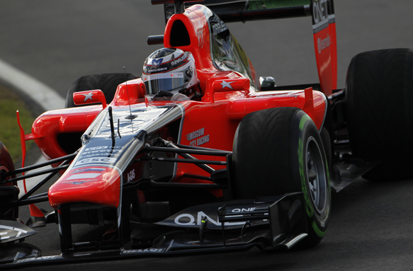 Max Chilton Marussia F1 test 2012