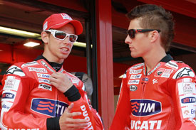 Nicky Hayden and Casey Stoner