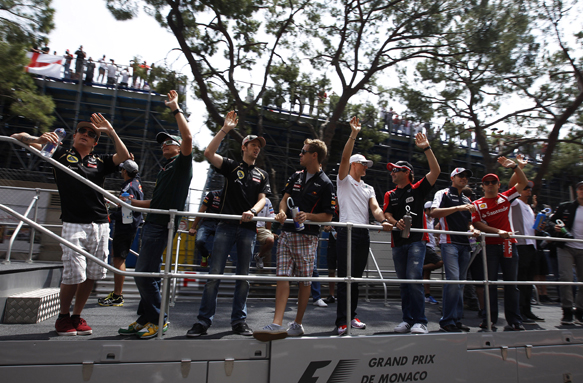 Drivers parade 2012 F1