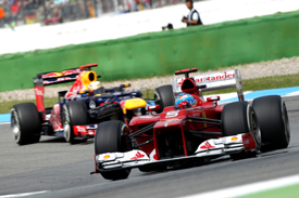 Fernando Alonso Ferrari Sebastian Vettel Red Bull 2012 German grand prix