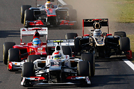 Fernando Alonso and Kimi Raikkonen, Japanese Grand Prix, 2012