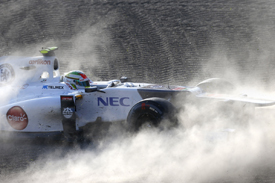 Sergio Perez spins out at Suzuka