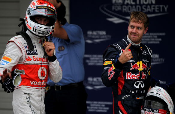 Jenson button McLaren Sebastian Vettel Red Bull 2012 Japanese Grand Prix 2012