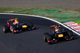 Sebastian Vettel and Mark Webber, Red Bull, Suzuka 2012