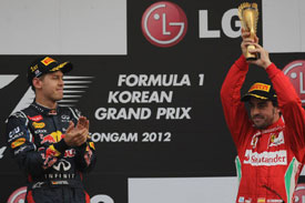 ALonso Vettel Korea 2012