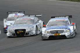 Jamie Green, HWA Mercedes, Adrien Tambay, Abt Audi, Martin Tomczyk, RMG BMW, Zandvoort DTM 2012