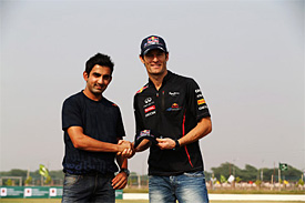 Gautam Gambhir with Mark Webber