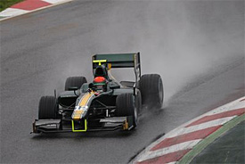 Alexander Rossi tops GP2 test at wet Barcelona
