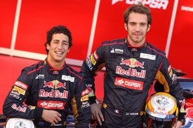 Toro Rosso Daniel Ricciardo Jean-Eric Vergne 