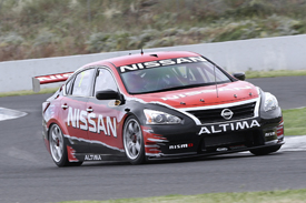 Todd Kelly Nissan Kelly test V8 Supercars Calder Park 2012