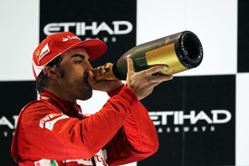 Fernando Alonso Ferrari 2012 Abu Dhabi GP