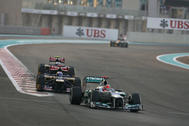 Michael Schumacher, Mercedes, Abu Dhabi 2012