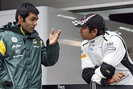 Karun Chandhok and Narain Karthikeyan, 2011