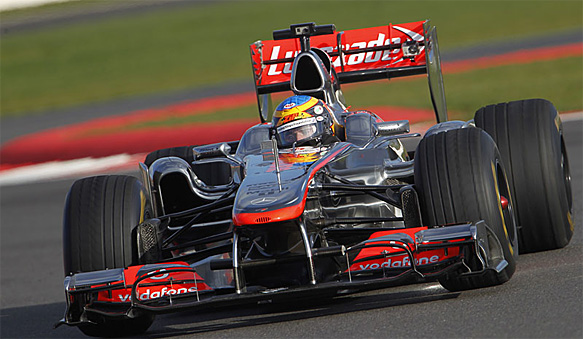 Rowland completes prize McLaren test