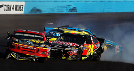 Jeff Gordon and Clint Bowyer collide at Phoenix