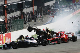 Romain Grosjean Spa 2012