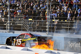 Aftermath of Clint Bowyer crash, Phoenix NASCAR 2012