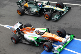 Force India and Caterham