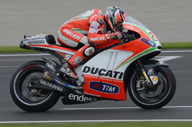 Nicky Hayden Ducati MotoGP test Valencia 2012