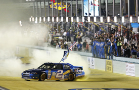 Brad Keselowski clinches the 2012 NASCAR Sprint Cup title