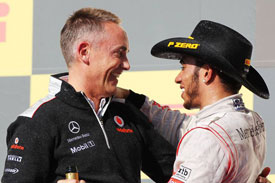 Martin Whitmarsh Lewis Hamilton Austin 2012