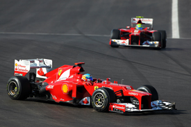 Fernando Alonso leads Felipe Massa at Austin