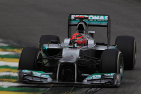 Michael Schumacher, Mercedes, Interlagos 2012