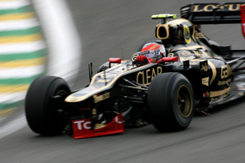 Romain Grosjean's damaged Lotus, Interlagos 2012
