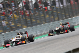 Pedro de la Rosa and Romain Grosjean, Interlagos 2012