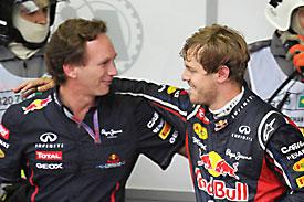 Christian Horner Sebastian Vettel