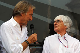 Luca di Montezemolo Bernie Ecclestone