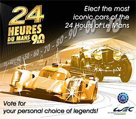 Fans asked to vote for greatest cars in Le Mans history