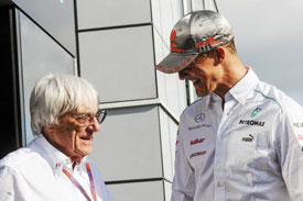 Bernie Ecclestone Michael Schumacher 