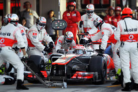 McLaren pitstop 2012 F1