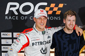 2012 Race of Champions Schumacher Vettel