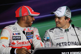 Lewis Hamilton Nico Rosberg F1 2012