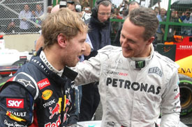 Michael Schumacher Sebastian Vettel 2012