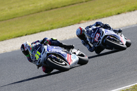 Aleix Espargaro and Randy de Puniet, Aspar, Phillip Island MotoGP 2012