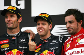 Mark Webber Fernando Alonso F1 2012