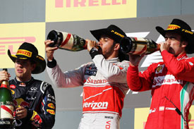 Lewis Hamilton Sebastian Vettel Fernando Alonso F1 2012