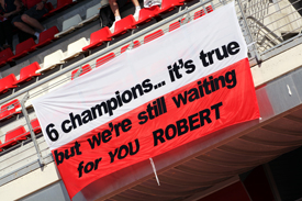 Fans' banner for Robert Kubica