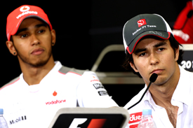 Lewis Hamilton and Sergio Perez