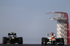 Force India and Caterham, Austin 2012