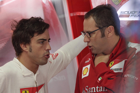 Fernando Alonso and Stefano Domenicali
