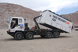 The Race2Recovery truck