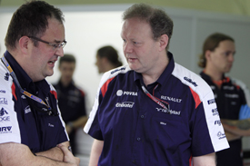 Parr brought Mike Coughlan (left) back into F1