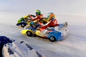 Fernando Alonso and Felipe Massa, Wrooom ice kart race 2013