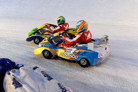 Fernando Alonso and Felipe Massa, Wrooom ice kart race 2013